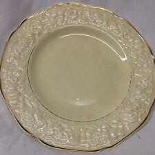 "CROWN DUCAL GOLDEN GLAMOUR SALAD PLATE 7 7/8"" FLORENTINE SHAPE SAND"