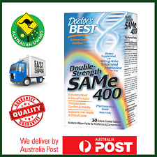 SAMe 400mg 30 Tablets by Doctor's Best - 5 HTP SAM-e Tryptophan - AUS STOCK