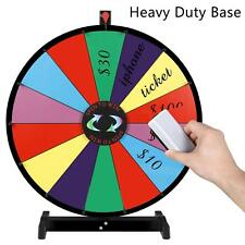 """24"""" Tabletop Spinning Prize Wheel 14 Slots w/DryErasable Trade Show Carnival"""