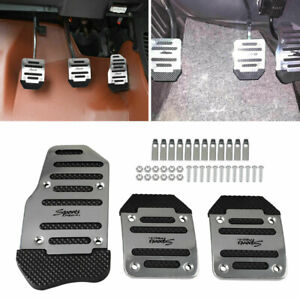 3X Universal Non Slip Automatic Gas Brake Foot Pedal Pad Covers Car Accessories