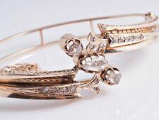 antiker Armreif Armband 1,00 Karat Diamanten 585 Gold um 1880