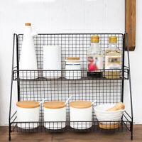 Double Layer Storage Spice Jar Rack Holder Stand Shelf Kitchen Bath Organizer