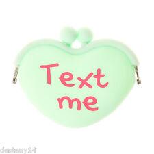 Text Me Candy Heart Coin Purse Nwt