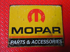 MOPAR PARTS ACCESSORIES FORMED EDGE METAL RECTANGLE STEEL SIGN 50'S REPRODUCTION