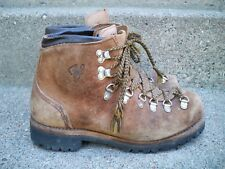 Vtg Vasque Leather Mountaineering Hiking Boots Brown Men's Made in USA Size 7 W