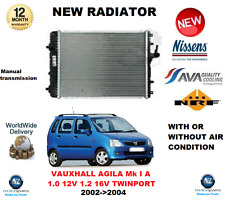 FOR VAUXHALL AGILA Mk I A 1.0 12V 1.2 16V TWINPORT 2002-2004 RADIATOR OE QUALITY