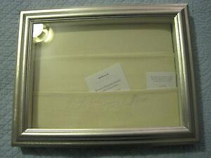 Hallmark Signature Wedding Memory Keepsake Display NIB Silver Wood $40