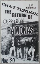 THE RETURN OF BOSS HOSS Gig Poster CHATTERBOX Ramonas PUNK Free Shipping