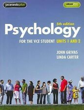 Psychology for the VCE Student - Units 1 & 2 by John Grivas Linda Carter New $77
