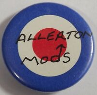 ALLERTON MODS Mod Target Old OG Vtg 1980`s Button Pin Badge 25mm NOT parka vespa