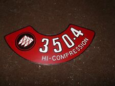 1970 1971 BUICK SKYLARK SPECIAL GS LESABRE 350 4V HIGH CMP AIR CLEANER LID DECAL