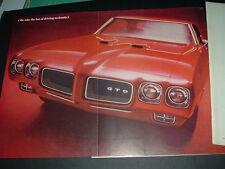 1970 Pontiac GTO original General Motors print car ad 1969