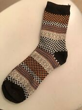 BRAND NEW Wool Blend Hiking Socks Fits Most Sizes Coffee Brown FAST SHIPPING!