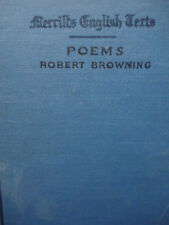 451BOOKS- POEMS by ROBERT BROWNING- 1909- 1ST EDITION- Merrill's- Hard Cover