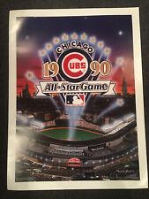 1990 MLB All-Star Game 18x24 Poster CHICAGO CUBS Wrigley Field Ryne Sandberg
