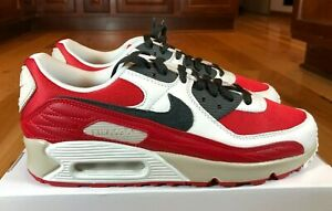 Nike By You ID Air Max 90 Chicago White Red Black Light Grey DJ3176 991 Size 9.5
