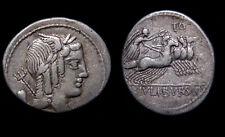 COLLECTIBLE ROMAN REPUBLICAN COIN , L. JULIUS BURSIO, AR Denarius, 85 BC+++