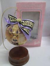 "Mattel 1997 Evening Majesty Barbie 4"" Decoupage Ornament New In Box!"