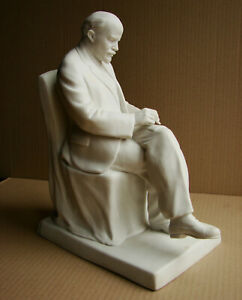 Soviet Russian statue bust figurine biscuit porcelain Lenin LFZ Leningrad USSR