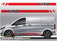 Mercedes Vito racing stripes 017 decals vinyl graphics sport van