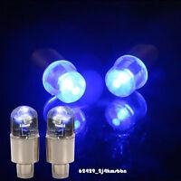 2Pcs Blue Motorcycle Car Wheel Tyre Tire Air Valve Stem Cap LED Light For Honda
