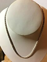 Vintage Twisted Chain Silver Metal Necklace Magnet tested  SKU 070-081