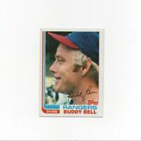 1982 Topps Buddy Bell Baseball Card #50 Texas Rangers HOF
