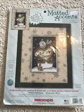 Dimensions Christmas Counted Cross Stitch Kit Holiday SNOWMAN Matted Accent 8701