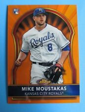 2011 Topps Finest RC Orange Refractor - MIKE MOUSTAKAS 12/99   ROYALS