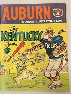 1969 Auburn vs Kentucky Football Program Phil Neel