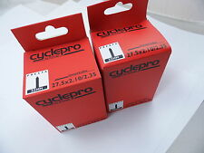 "2 x Cyclepro Bike Mtb Inner Tubes  650b - 27.5"" x 2.10 - 2.35 PRESTA VALVE"