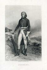 Gravure, Portrait XIX° : Général JOUBERT. Révolution Française