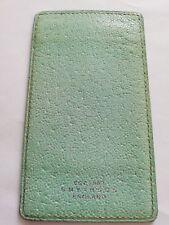 Vintage Smythson England Green Leather ID Card Holder Wallet
