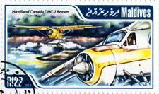 De Havilland Canada DHC-2 BEAVER STOL Floatplane / Seaplane Aircraft Stamp