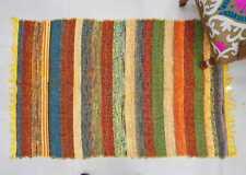 Handmade Chindi Rugs Hand Woven Cotton Braided Decorative Floor Multi Color Mat