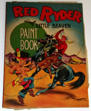 Red Ryder & Little Beaver Paint Book 1947 Coloring Book Nice Illustrations See!