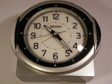 Seiko Alarm Clock LARGE CLOCK 100mm wide /130mm high with light