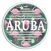 2 x 10cm Aruba Vinyl Stickers - Tropical Travel Sticker Laptop Luggage #18957