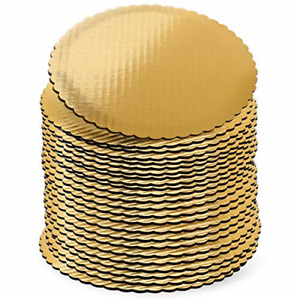10 inch Gold Cake Boards Rounds, [24 Pack] Cake Base, 10-In Circle Cardboard, 10