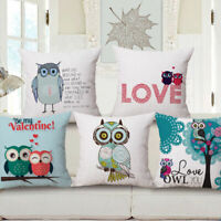 Cartoon Cushion Decorative Cover Case Owl Throw Pillow Romantic Cute 18""