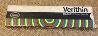 Vintage Berol Verithin Eagle Carmine Red Colored Pencils #745 Nine New In Box