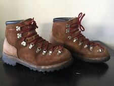 Vintage Dexter Alpine Mountaineering Hiking Boots Mens 10 M-Made USA Vibram Sole