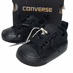 Converse Baby Boys Cute Street Ox Black Slip-On Sneakers Stylish & Comfy size 3