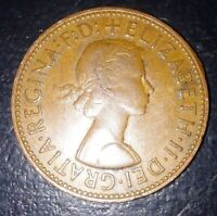 UK  GREAT BRITAIN 1964 HALF PENNY ELIZABETH  II