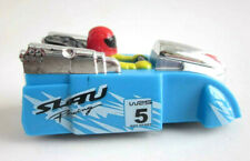 Wind-up ROCKET CAR race racing future white knob vtg look New repro Toy BOX