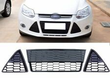 Mesh Honeycomb Front Lower Grill Grille Kit for Ford Focus 2012-2014