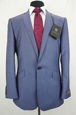 Men's Luxury Alexandre Savile Row 100% Mohair Blue Suit 40R W34 L31 EZ450