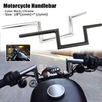 """7/8"""" 1"""" Moto Guidon Z-Handlebar pour Honda Yamaha Suzuki Kawasaki Harley Bobber"""