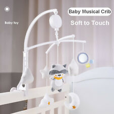 Kids Girls Bed Bell Crib Musical Mobile Cot Music Box Gift Baby Rattles Toy UK