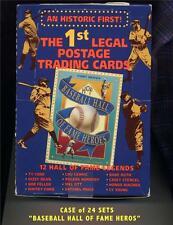 "LOT-24 SETS, 1st EDITION ""BASEBALL HALL OF FAME HEROS"" TRADING CARD/POSTAGE SET."